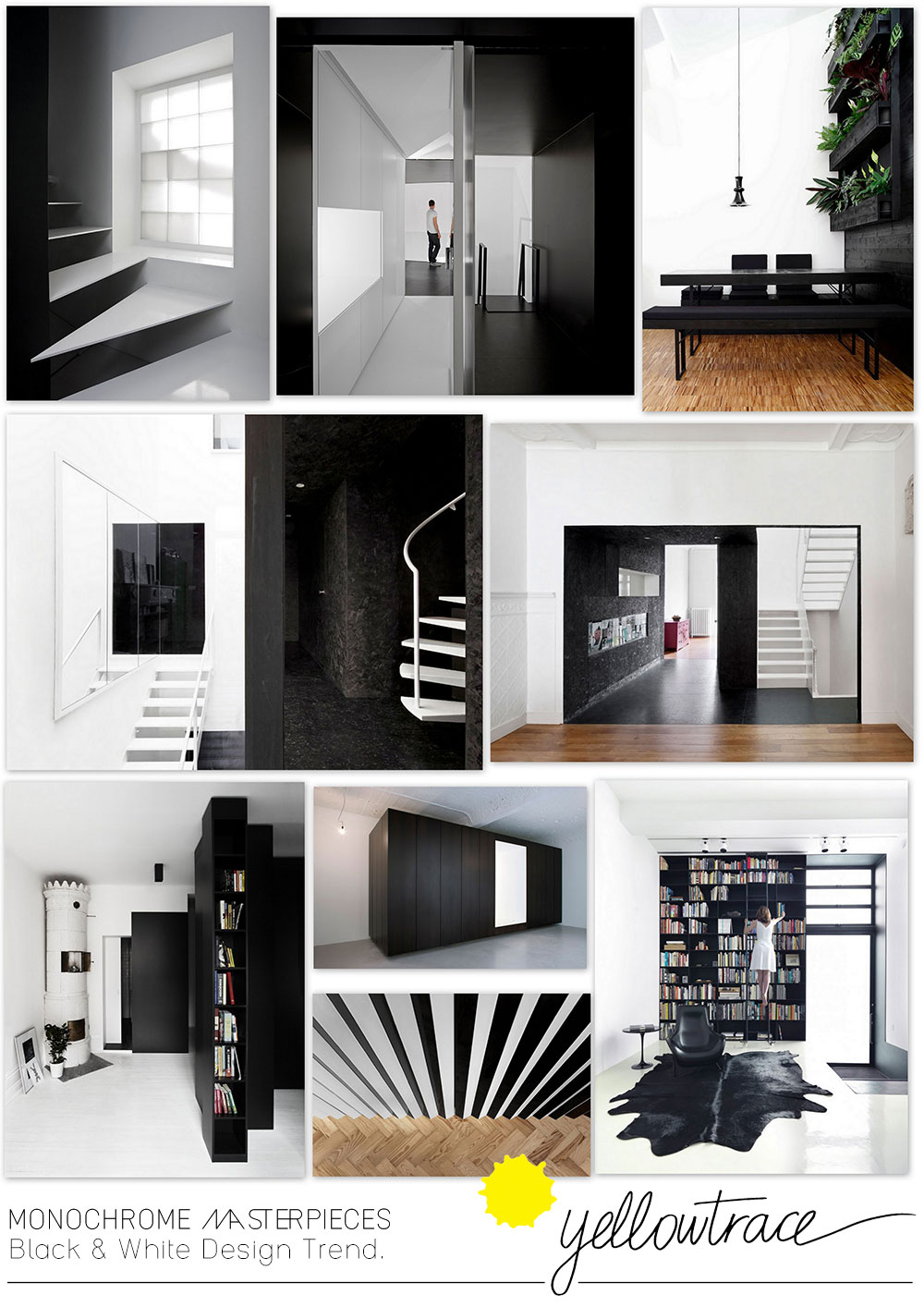 Monochrome Masterpieces | Black and White Design Trend Curated by Yellowtrace.