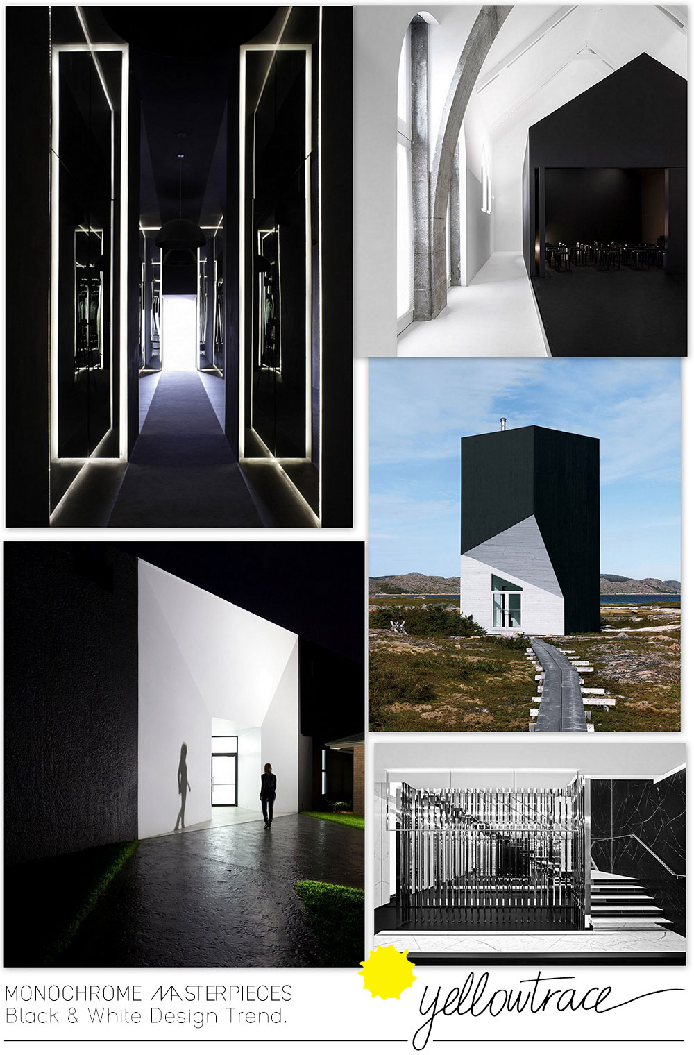Monochrome Masterpieces | Black and White Design Trends Curated by Yellowtrace.