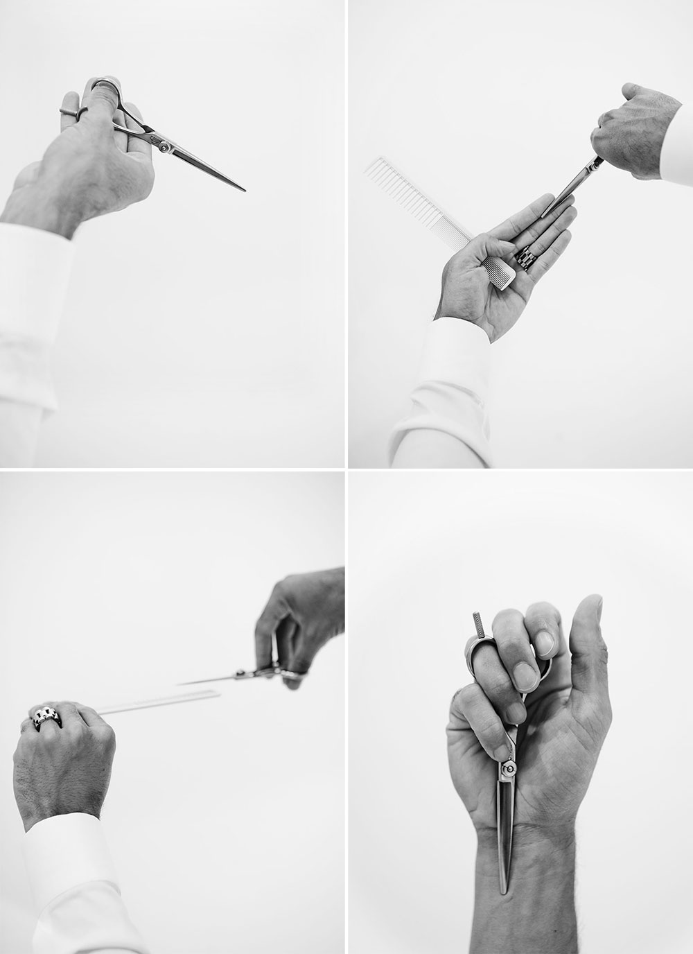Sydney Hairdresser Leonard Mattis 'Hand Series by Grace Cassio | Yellowtrace.
