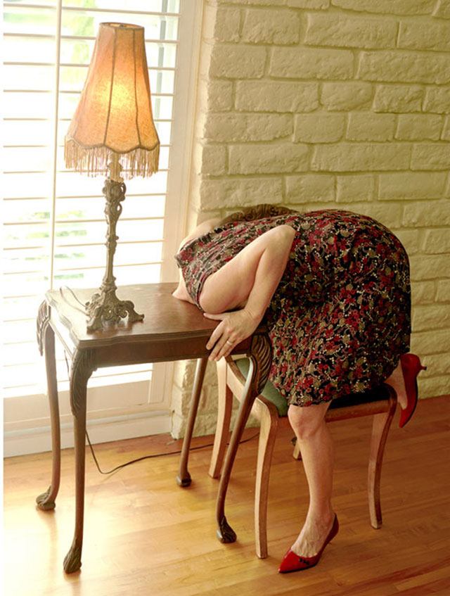 Head in Side Table, 2007 by Lee Materazzi | Yellowtrace.