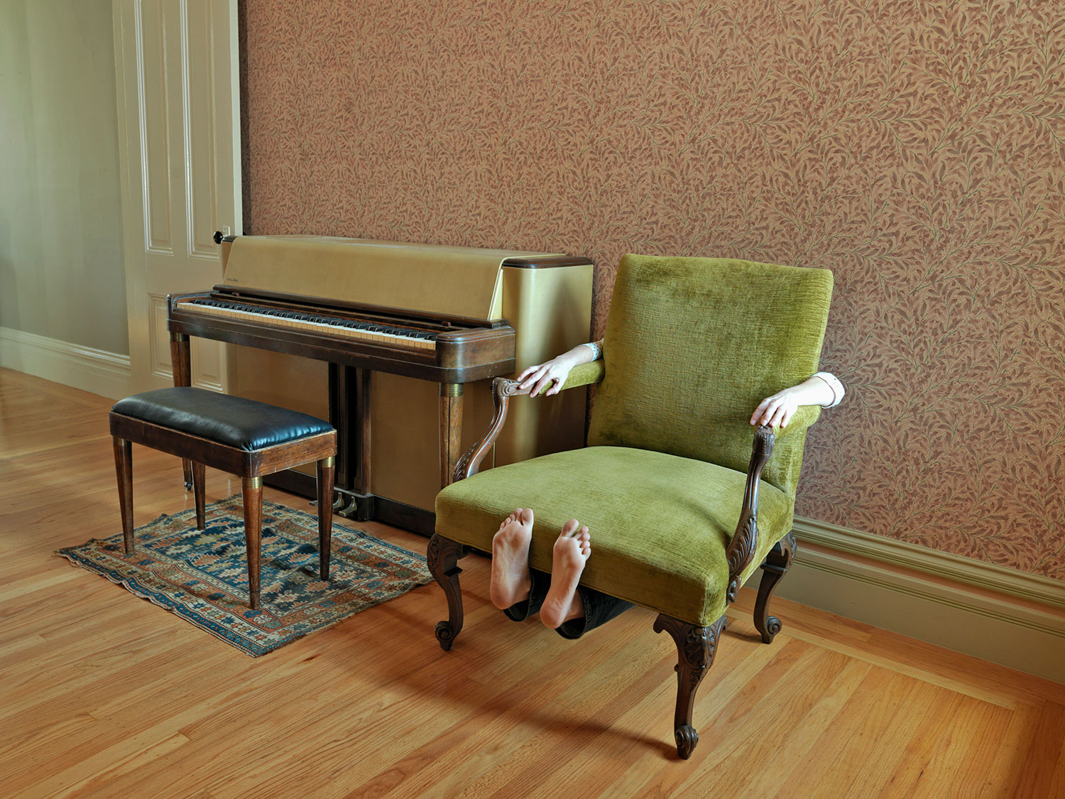 Sitting Under My Grandfather's Chair, 2011 by Lee Materazzi | Yellowtrace.