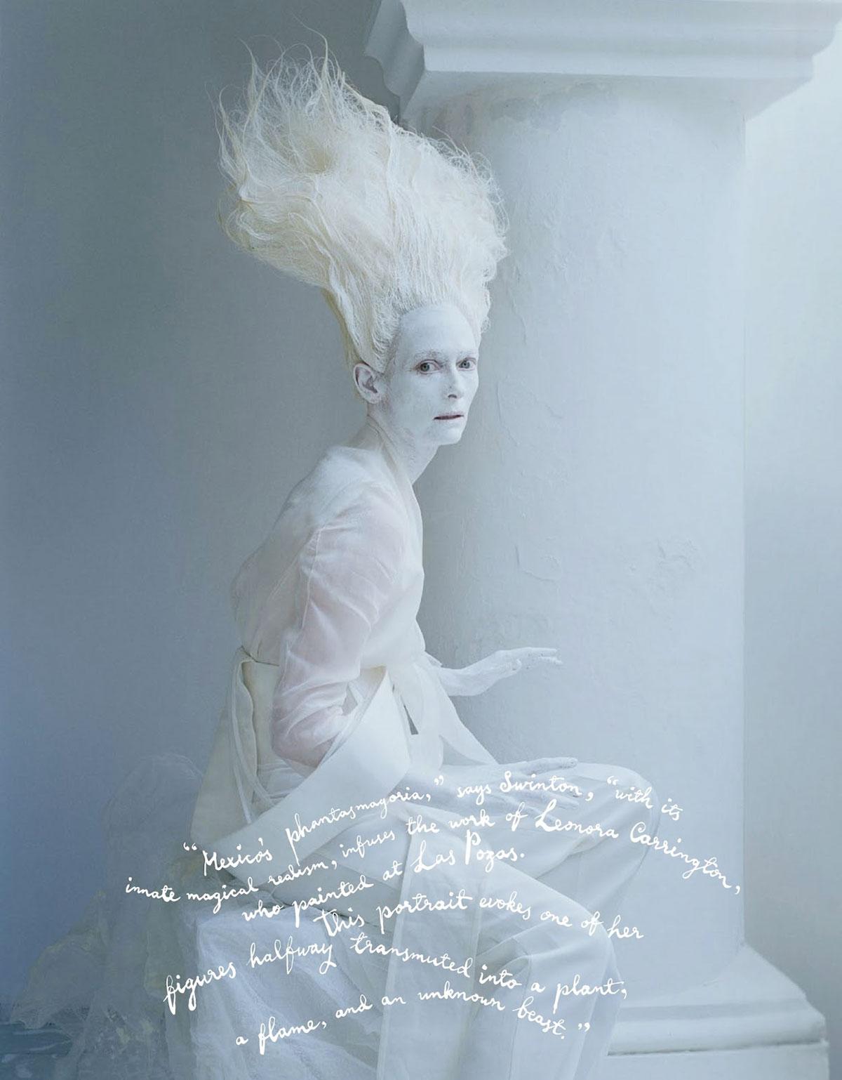 'Stranger Than Paradise' editorial. Tilda Swinton and Tim Walker for W Magazine   Yellowtrace.