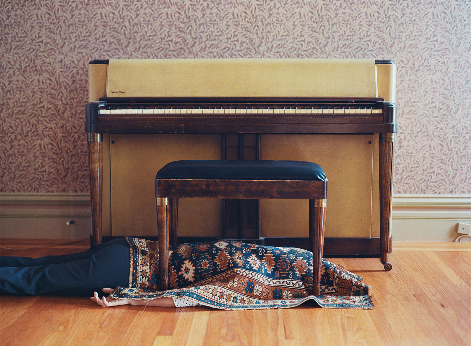 Under the Rug, Under the Bench, 2011 by Lee Materazzi | Yellowtrace.