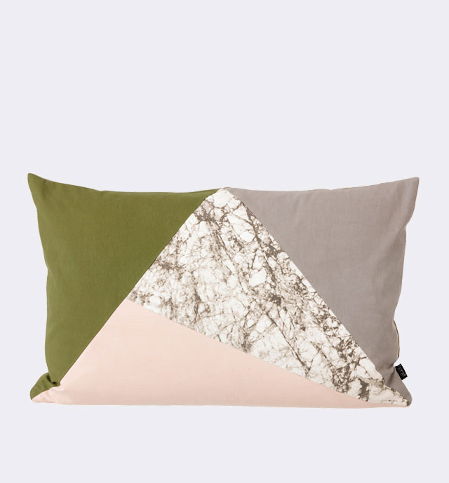 Fusion Triangle Cushion from Ferm Living | Yellowtrace.