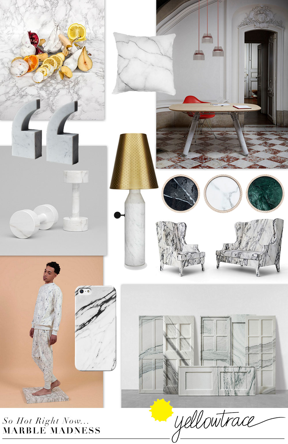 Marble Design Trend | Curated by Yellowtrace.