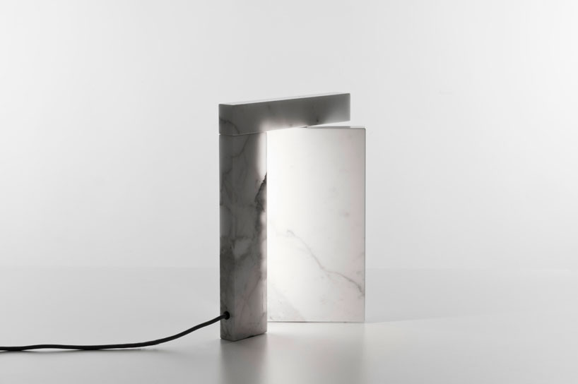 Precaria marble LED lamp by Brian Sironi | Yellowtrace.