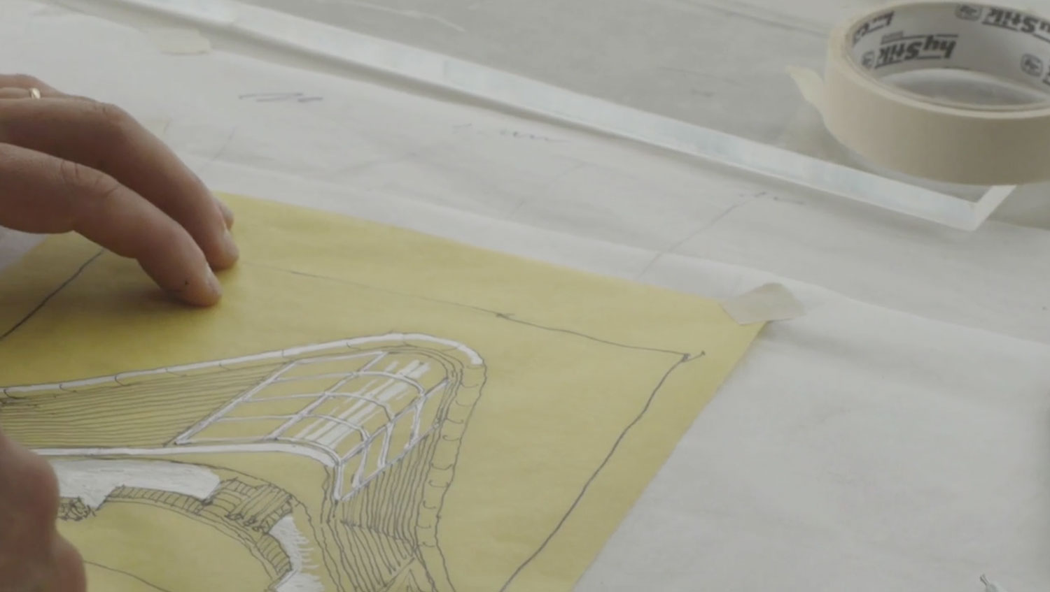 Australian architect L. Rosselli Sketching on Yellowtrace.