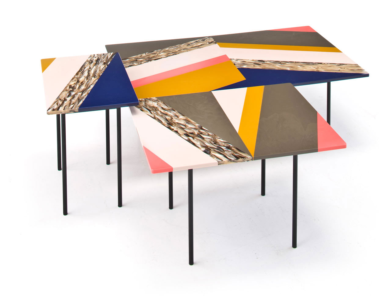 'Fishbone' tables by Patricia Urquiola for Moroso | Yellowtrace.