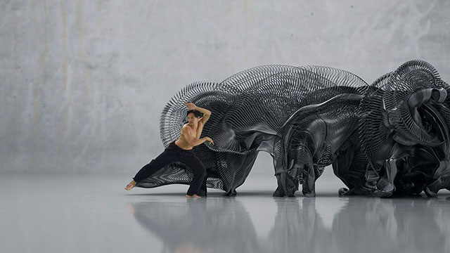 Human Movement Data Translated Into Visually Expressive Motion Sculpture [TV].