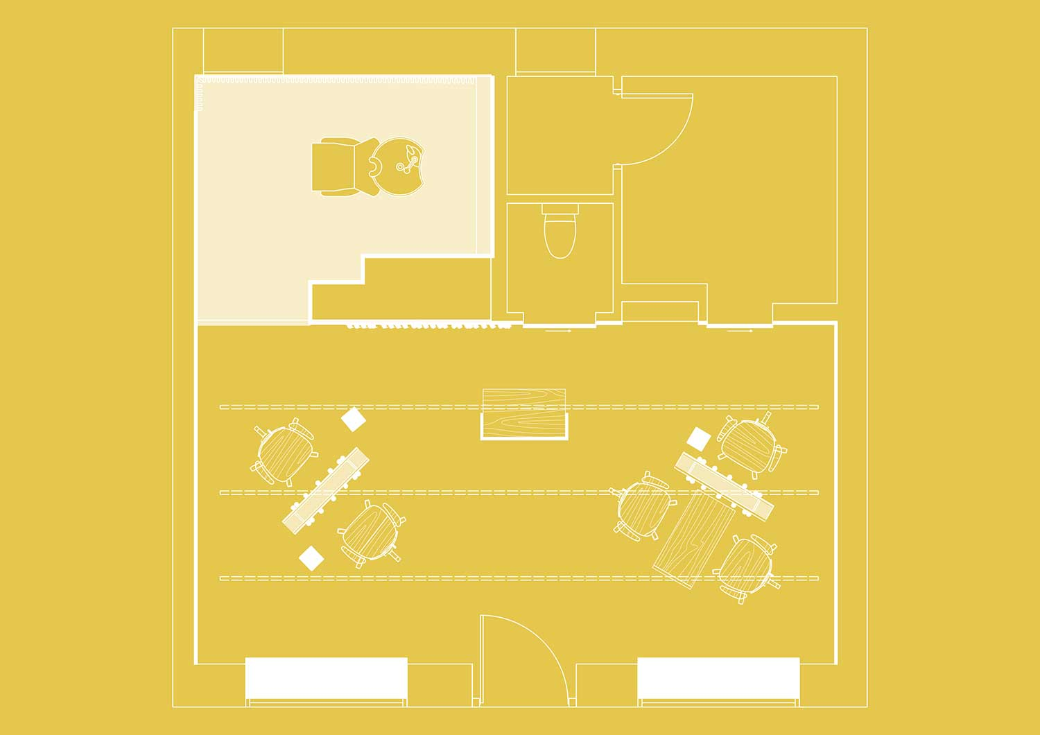 STUDIO David Thulstrup, BLOW Copenhagen Hair Salon Floor Plan | Yellowtrace.