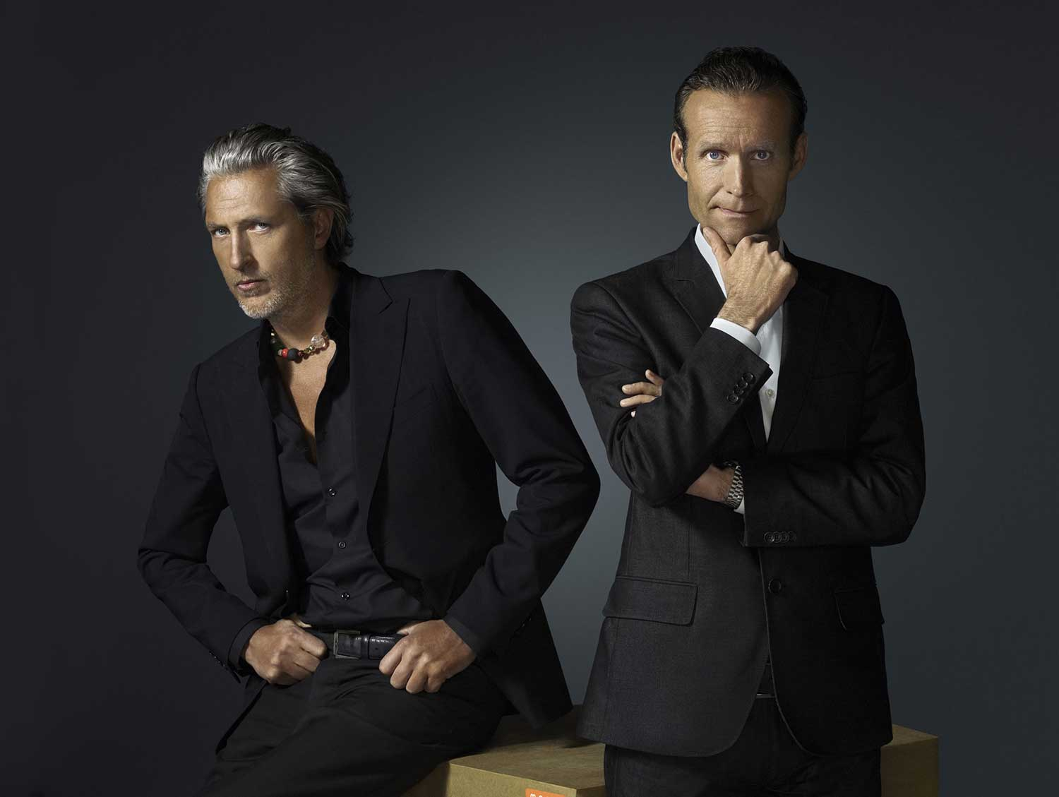 Moooi Founders - Marcel Wanders & Casper Vissers, photo by Erwin Olaf | Yellowtrace.