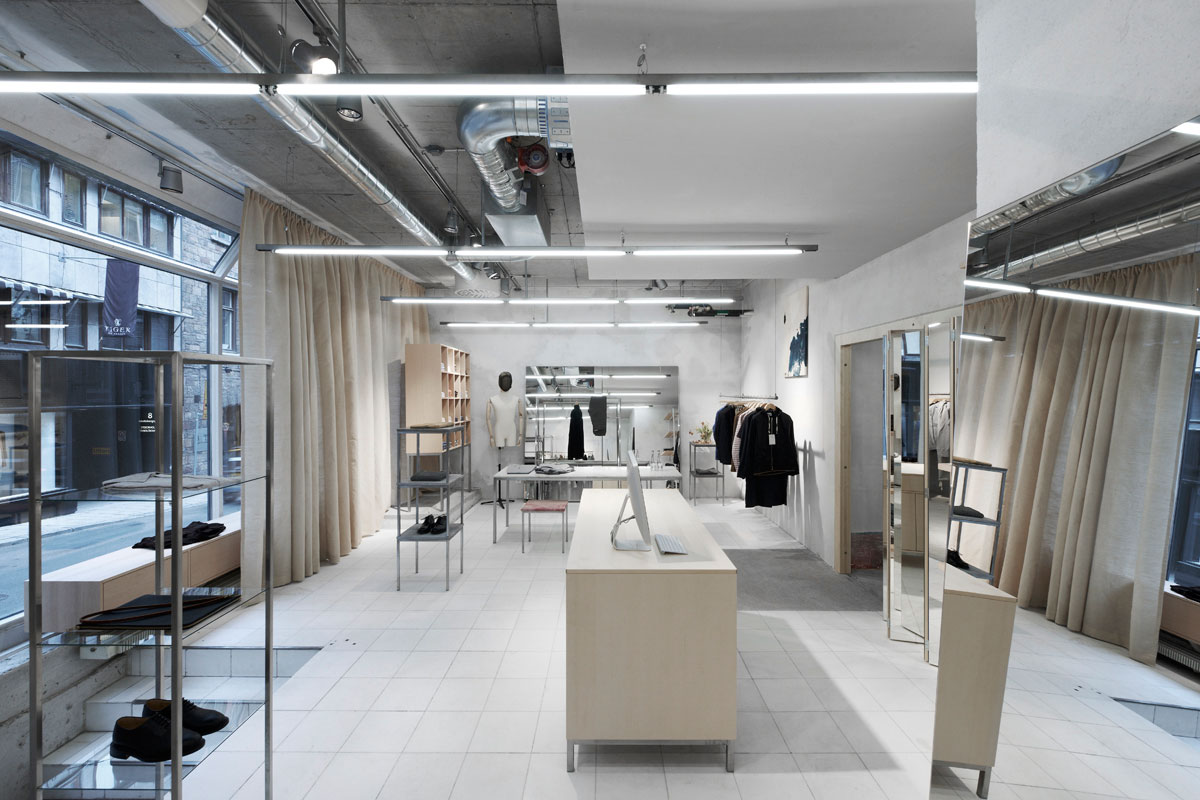 Beautiful fashion retail interiors by arrhov frick for Swedish design shop