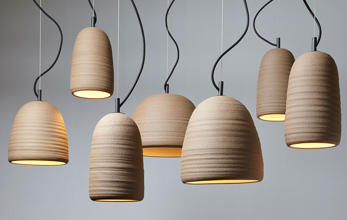 Stoneware Lighting by Adam Cornish | Yellowtrace