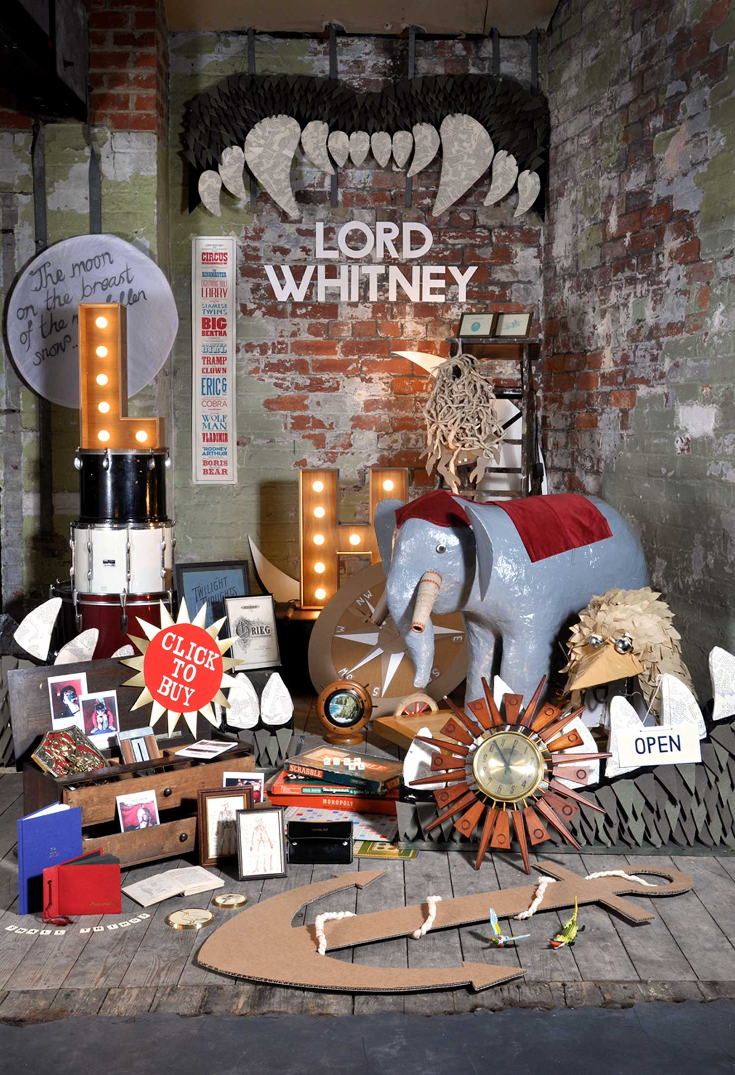 Lord Whitney Set Design, Art Direction and Prop Making | Yellowtrace