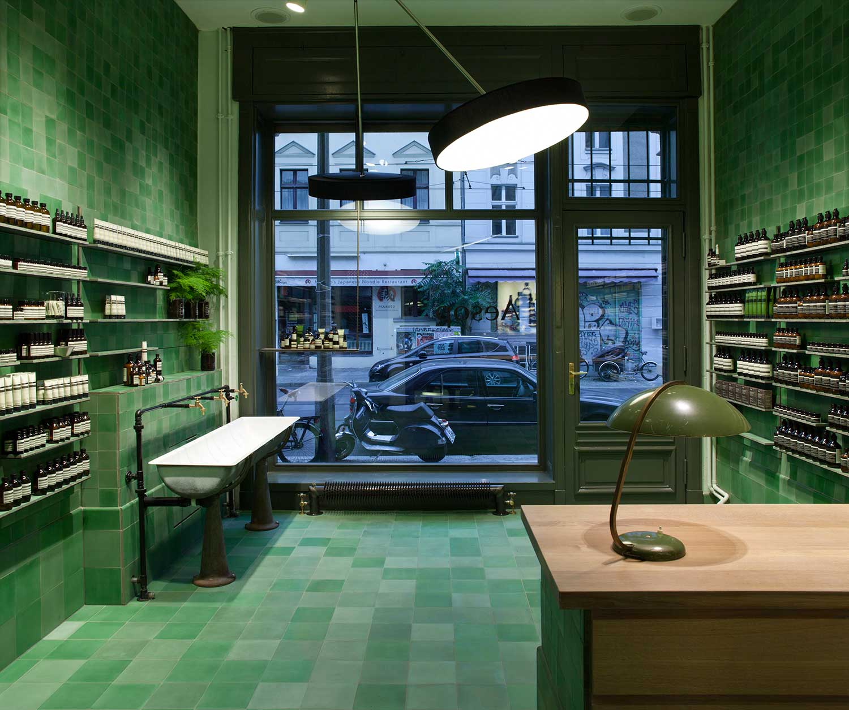 Aesop berlin store by weiss heiten yellowtrace for Interior design berlin