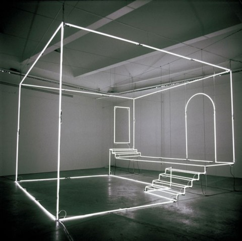 Neon Light Installations by Massimo Uberti.
