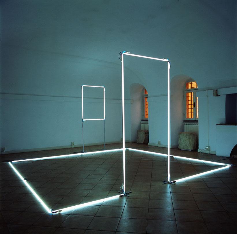 Neon Light Installations by Massimo Uberti   Yellowtrace