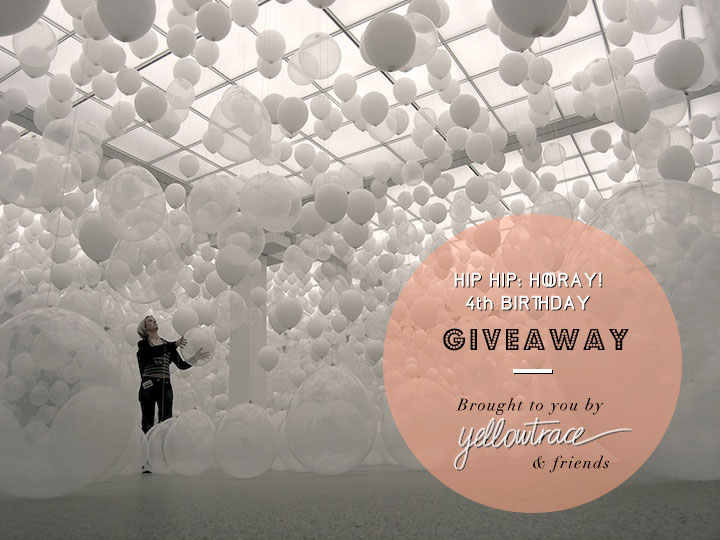 Yellowtrace 4th Birthday Giveaway!