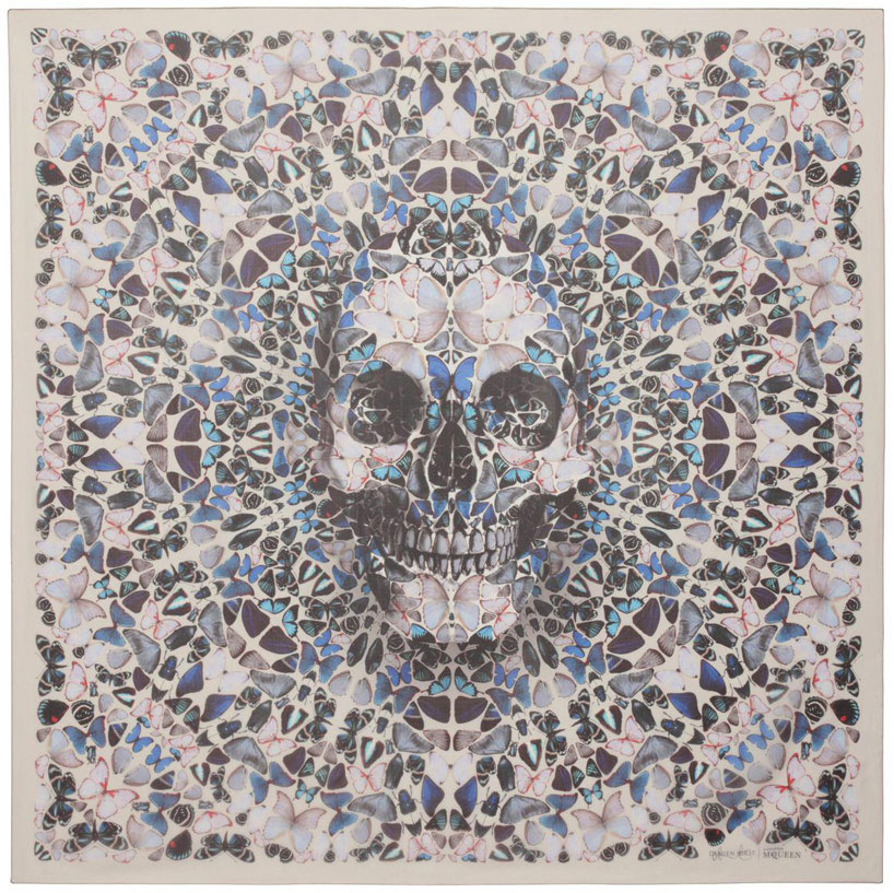 Damien Hirst x Alexander McQueen limited edition scarves | Yellowtrace