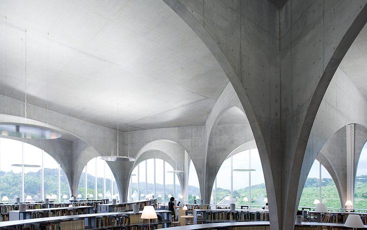 Tama Art University Library by Toyo Ito | Yellowtrace