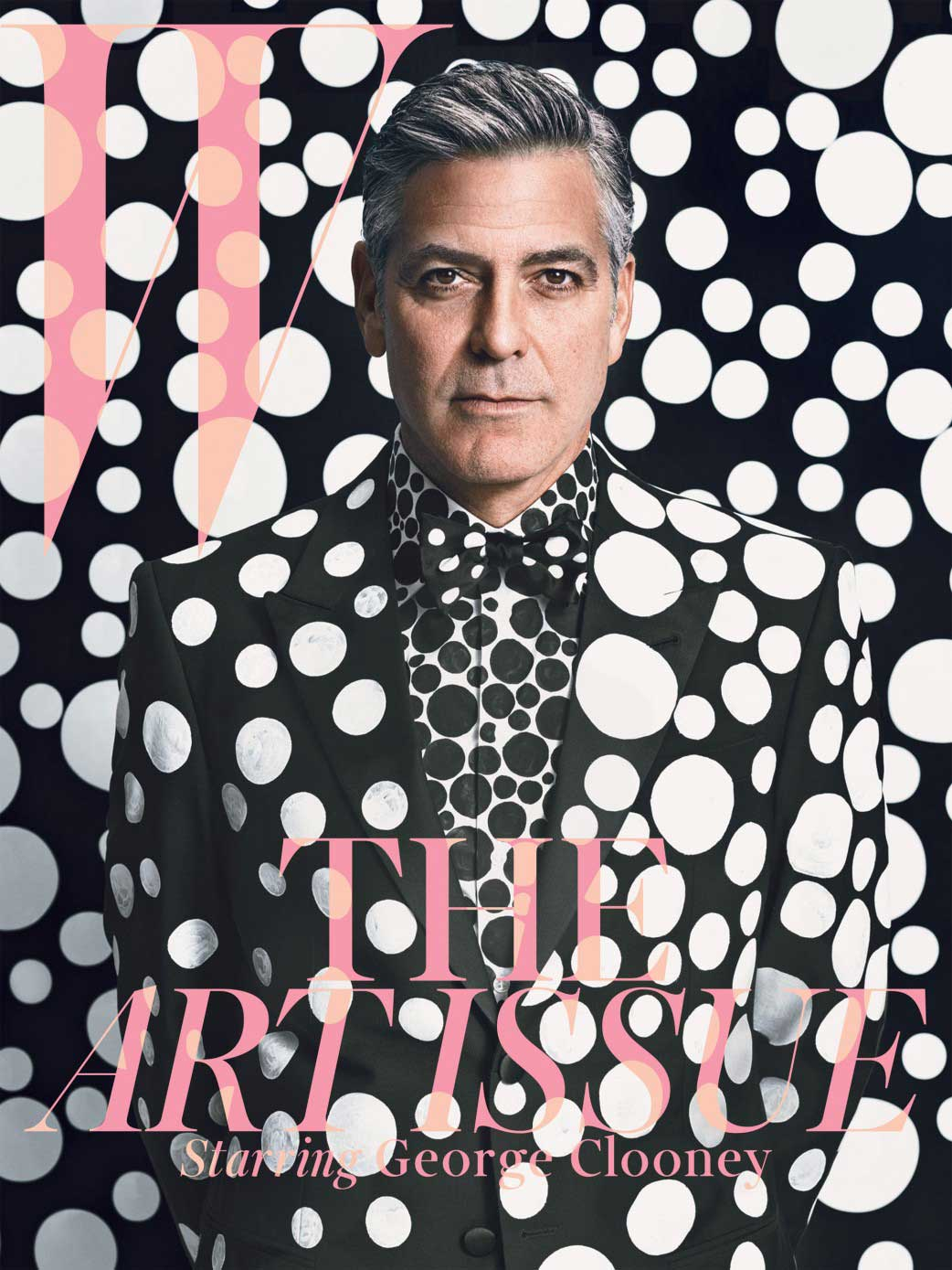 Spot The Star: George Clooney x Yayoi Kusama for W Magazine December 2013.