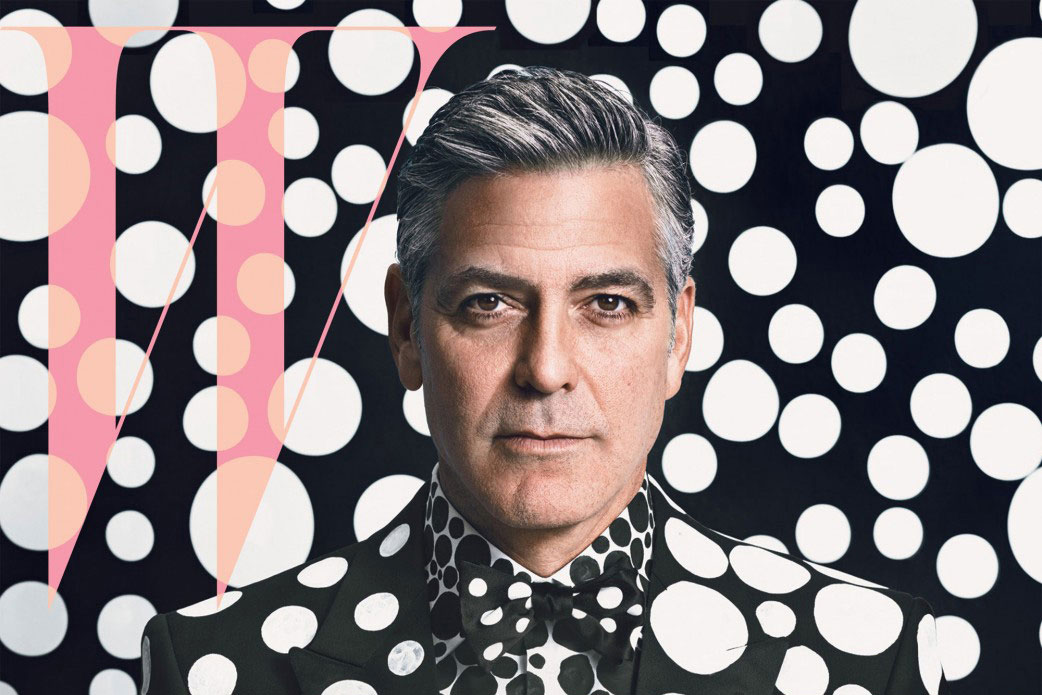 George Clooney x Yayoi Kusama for W Magazine | Yellowtrace