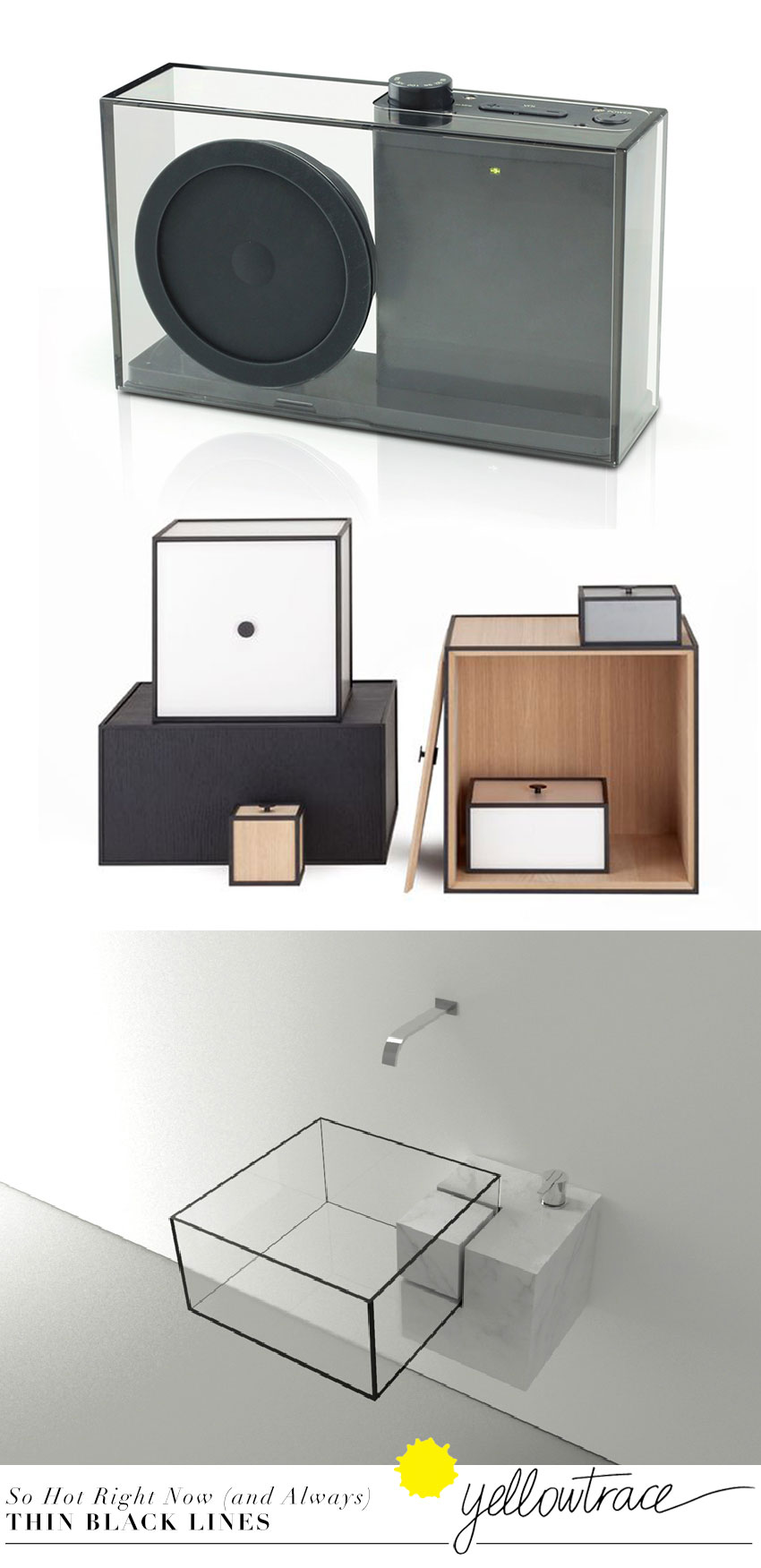 What do a Storage Unit, a Basin and a Transistor Radio Have in Common? by Yellowtrace