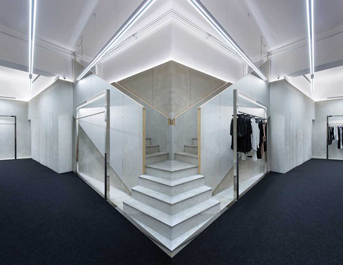 Site 01: Dion Lee's First Standalone Retail Concept by Akin Creative   Yellowtrace