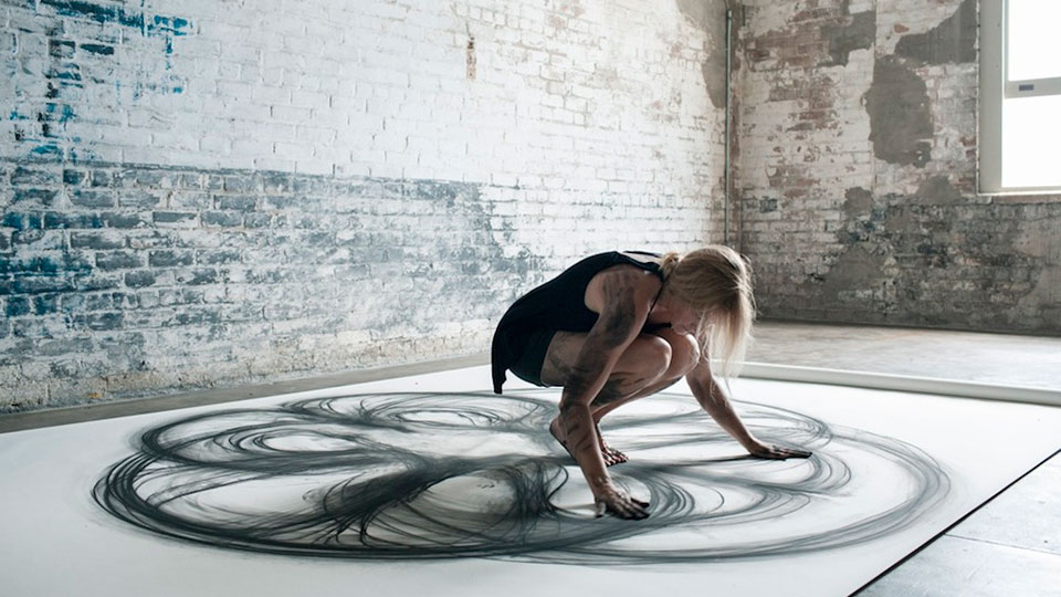 Emptied Gestures: Kinetic Drawings by Heather Hansen [TV].