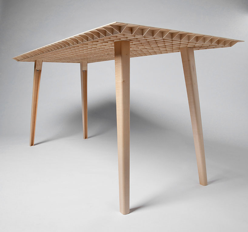 Klienergleich5 Wooden Table by Ruben Beckers IMM Cologne | Yellowtrace