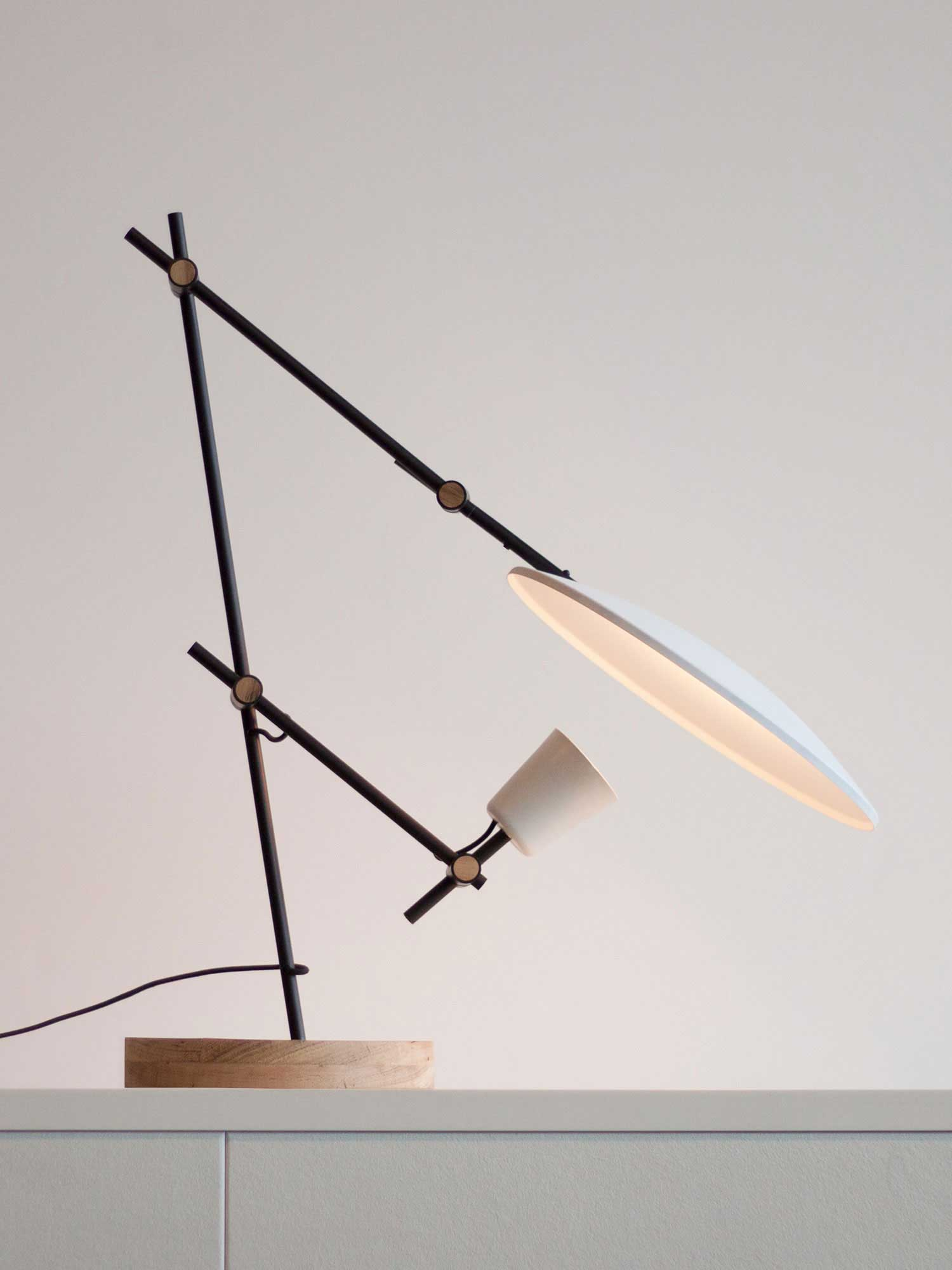 Crescent Table Lamp by young Australian designers Lewis Ye | Yellowtrace