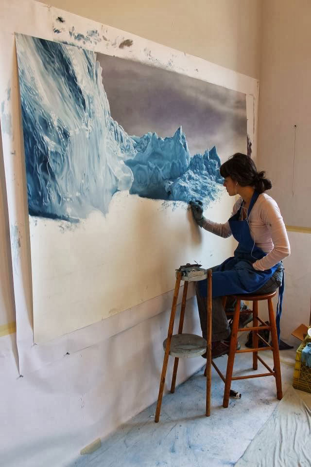 Glorious Pastel Drawings of Melting Icebergs by Zaria Forman.