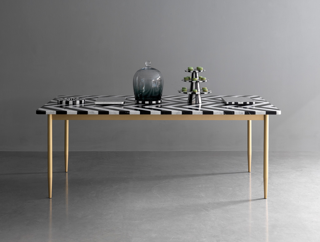 Herringbone Dining Table by Bethan Gray & Lapicida | Yellowtrace