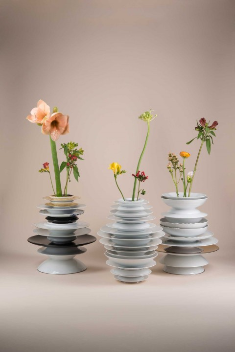Hanna Krüger Transforms Rosenthal Porcelain into Lamps & Vases.
