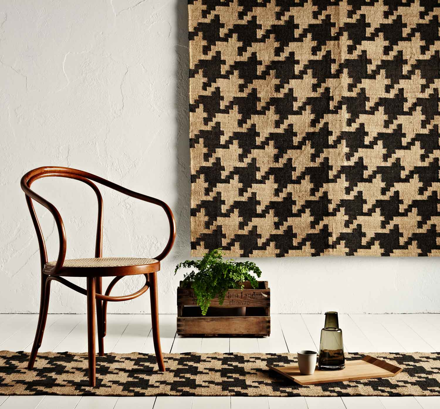 Houndstooth Rug by WorldWeave | Yellowtrace