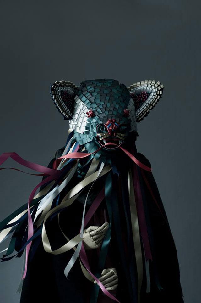 Ribbonesia Masks by Baku Maeda   Yellowtrace