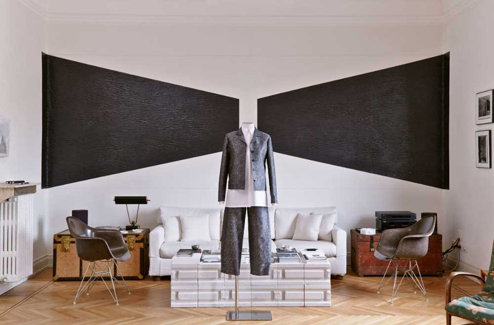 Arthur Arbesser Fashion Collection Shown at Architect Luca Cipelletti's Milan Apartment.