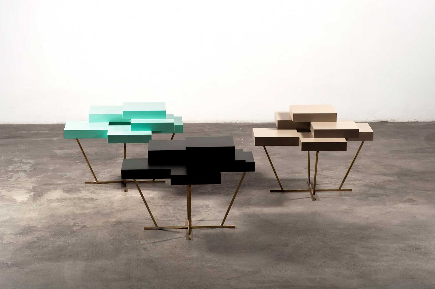Pixel Tables by Bensimon at Design Days Dubai 2014 | Yellowtrace