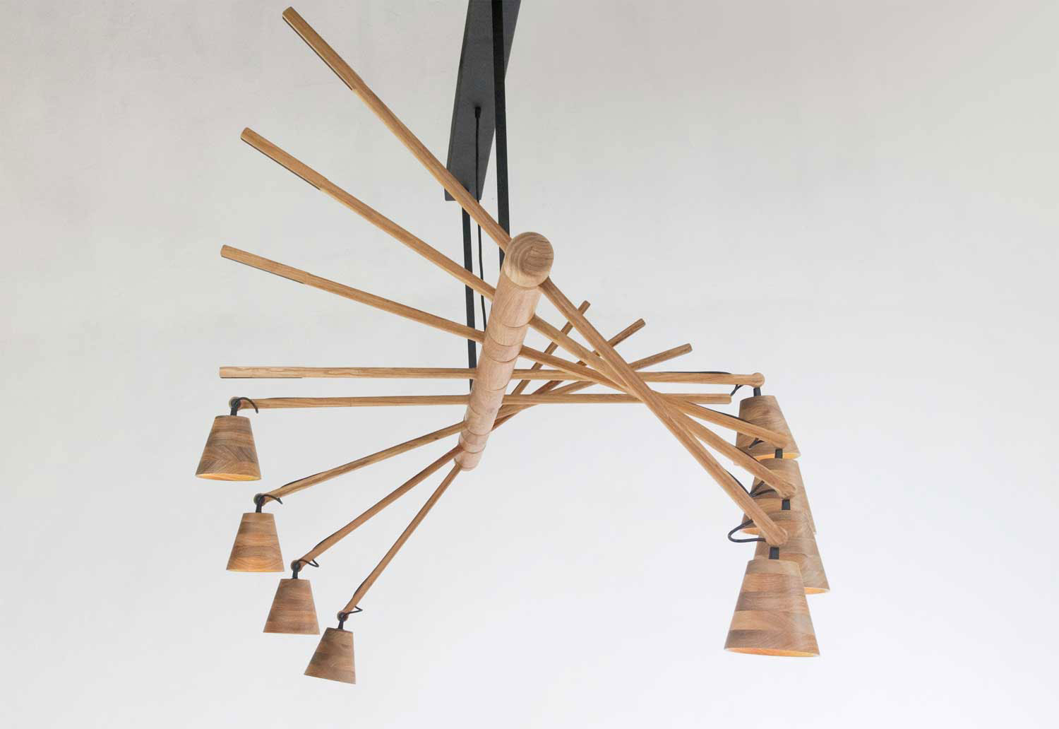 Haywire Imbuia Chandelier by David Krynauw at Design Days Dubai 2014 | Yellowtrace