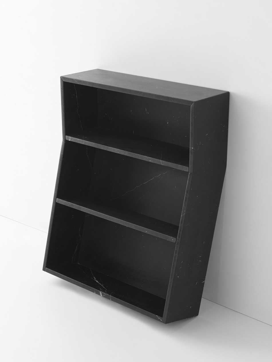 Melt Bookcase by Thomas Sandell for Marsotta Edziono Just Black Collection | Yellowtrace