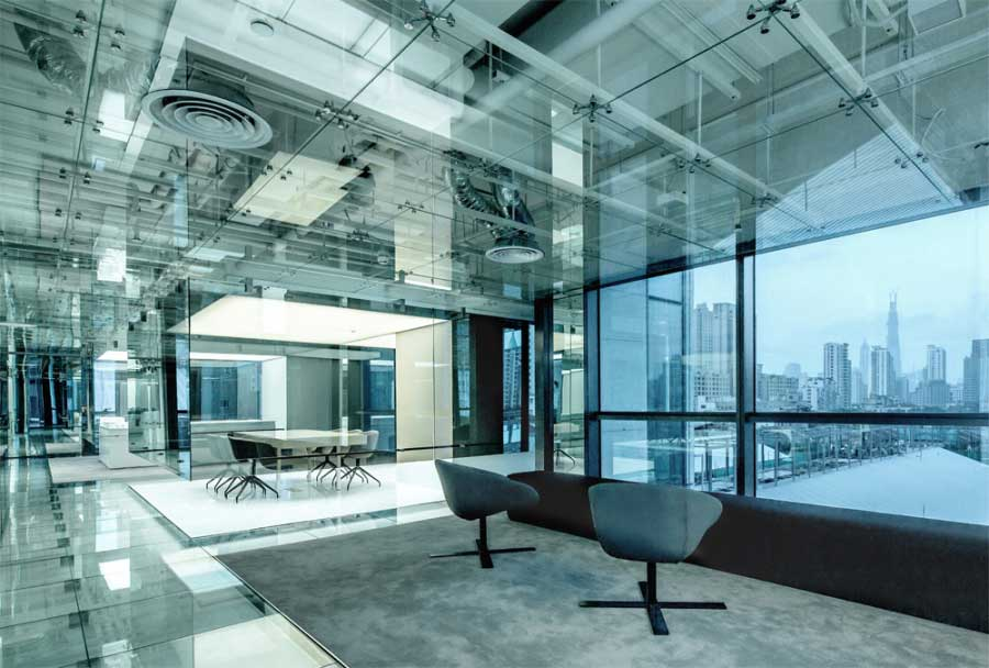 Glass office by AIM Architecture | Yellowtrace