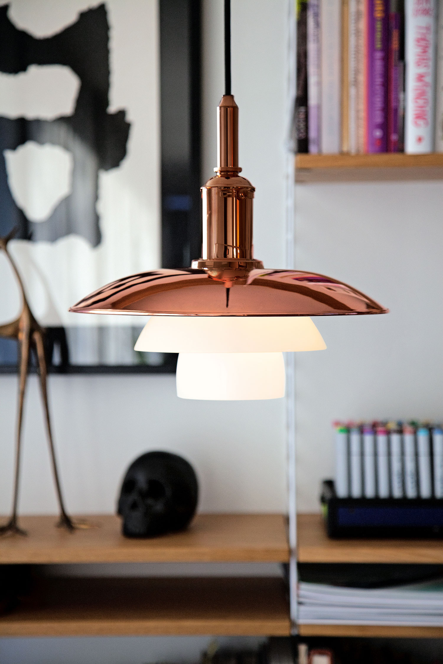 Copper Pendant by Louis Poulsen, New to Living Edge | Yellowtrace