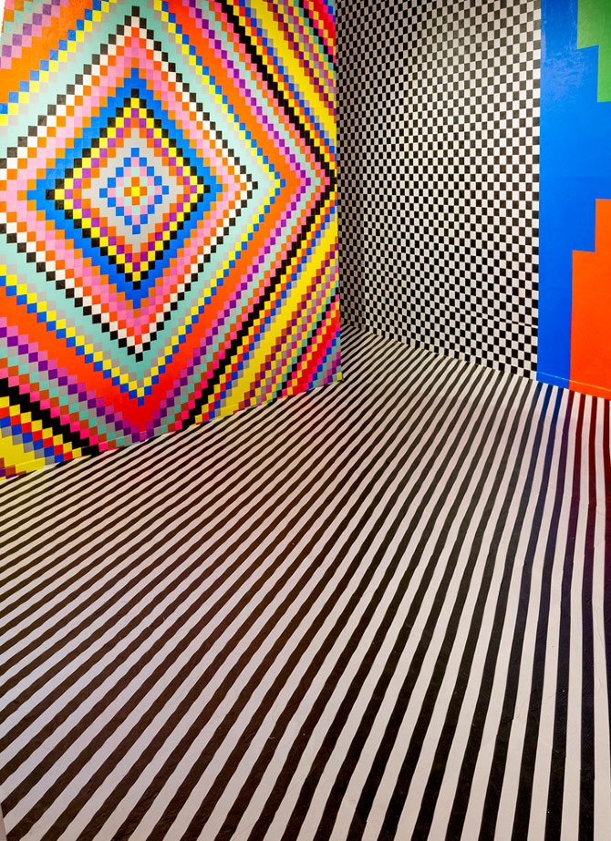 Dominique Pétrin's Colourful & Trippy Interior Installations.