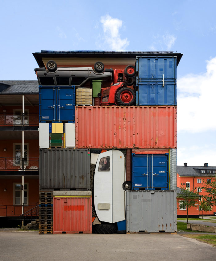Real-Life Tetris Sculptures by Michael Johansson.