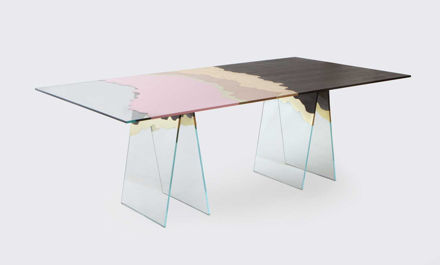 So hot right now translucent glass furniture yellowtrace for Material design table