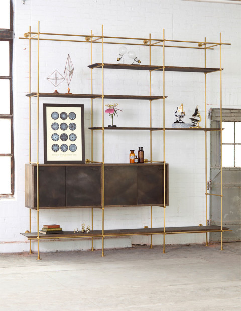The Collector's Shelving System by Amuneal.