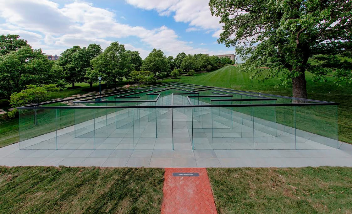 Glass Labyrinth by Robert Morris | Yellowtrace