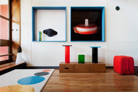 Pierre Charpin's Installation at Apartment N°50 by Le Corbusier // Marseille, France.