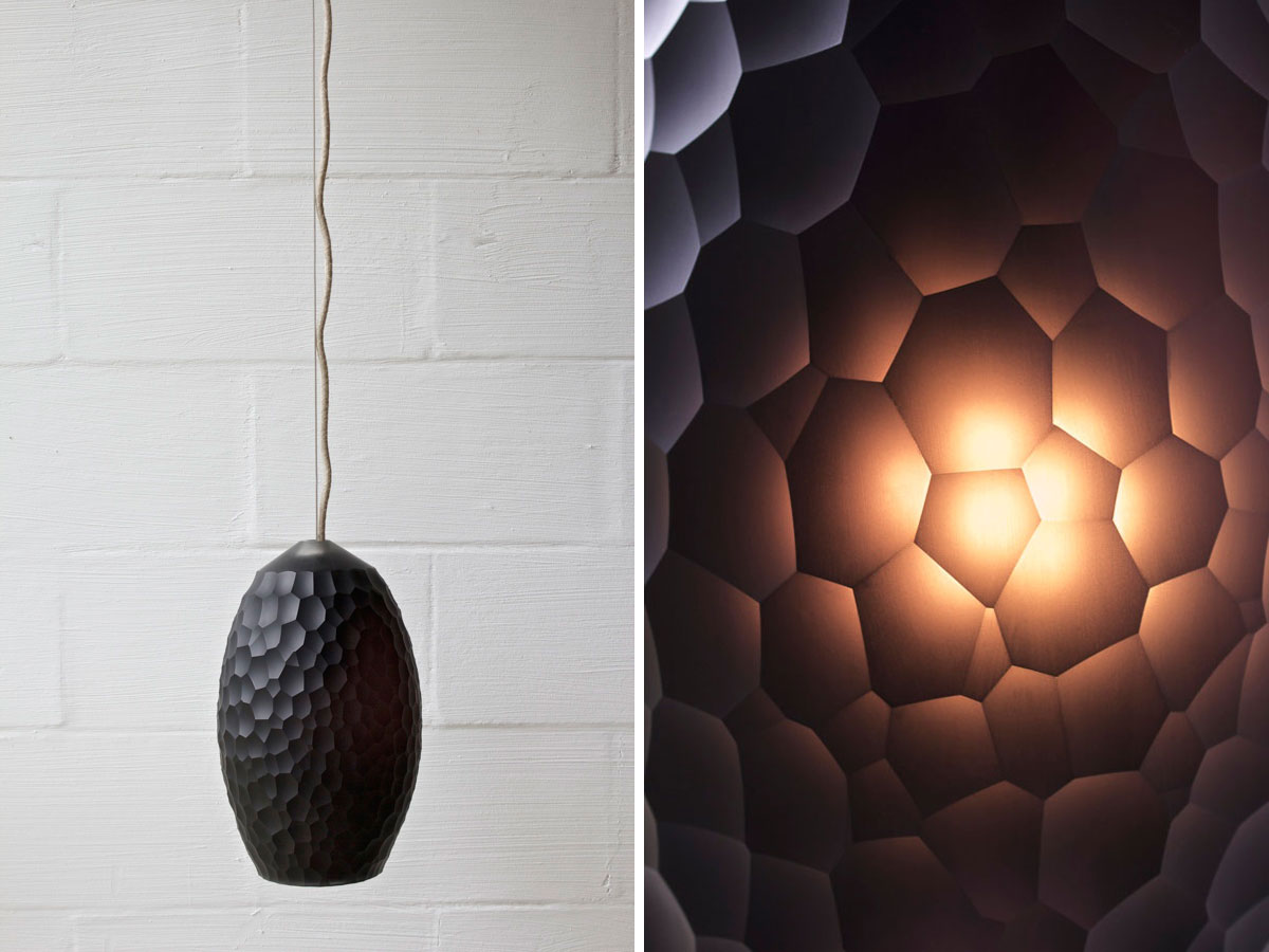 Object Future Exhibition by Dale Hardiman // Urchin Pendant by Mo-En Design   Yellowtrace