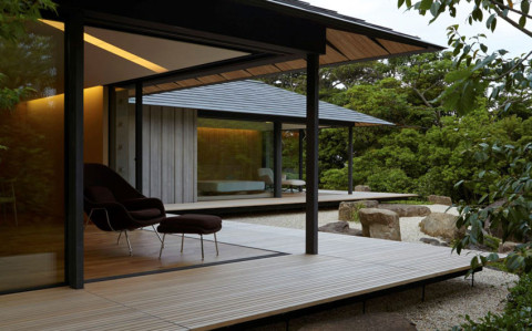 PC Garden House in Japan by Kengo Kuma.